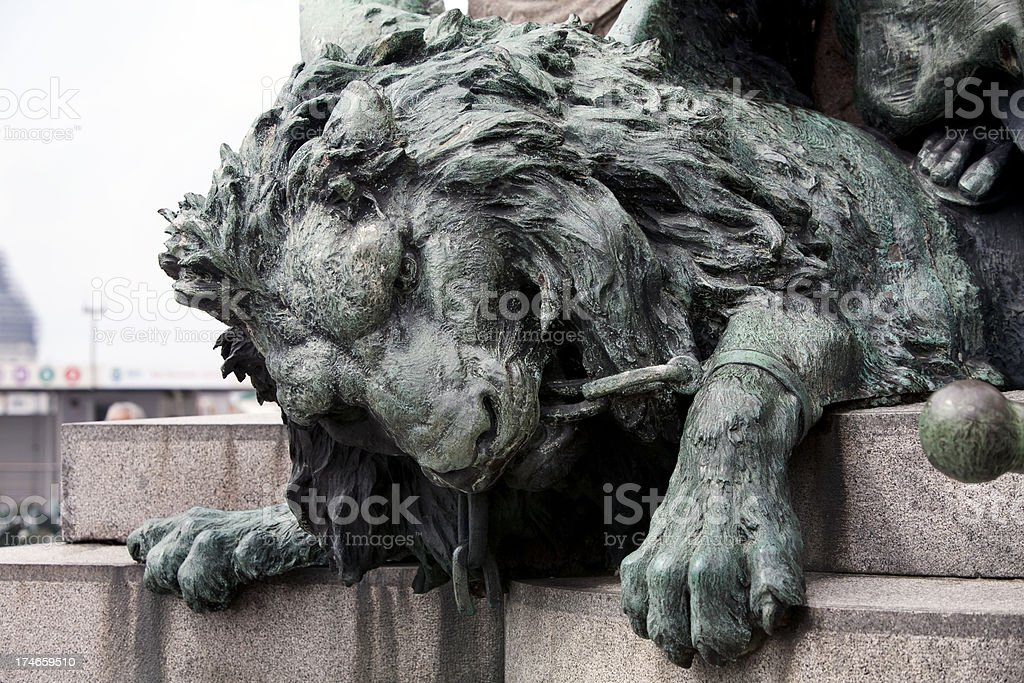 Lion in San Marco Venice stock photo