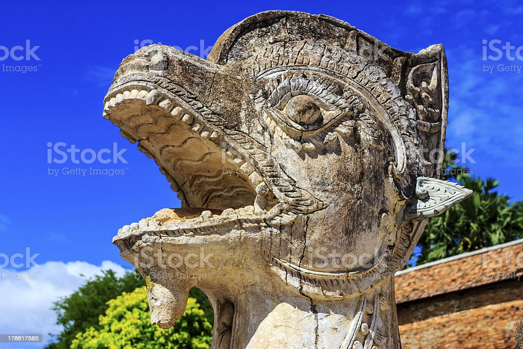 lion in Thailand royalty-free stock photo