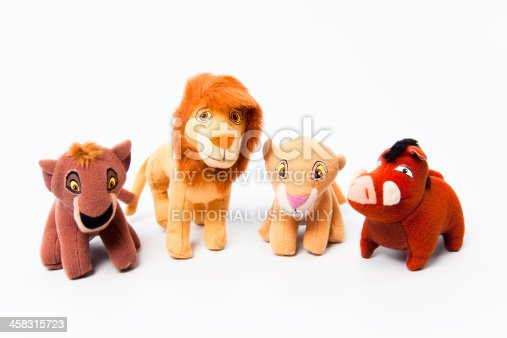 Falls Church, USA - September 2, 2012: Kovu, Simba, Kiara and Pumba from Walt Disney's