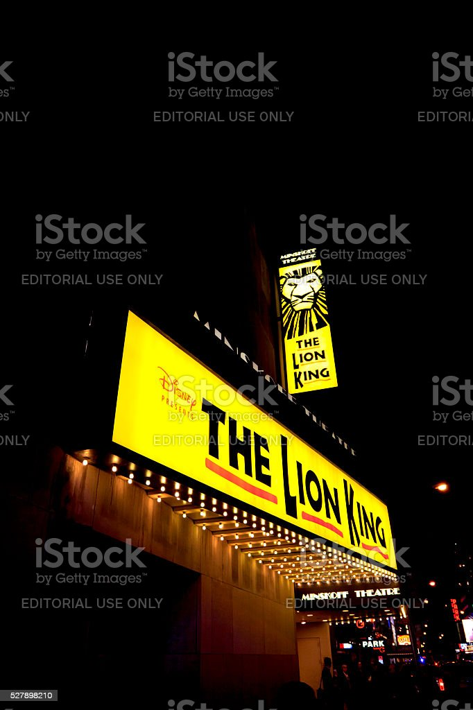 THE Lion King in Broadway, New York stock photo