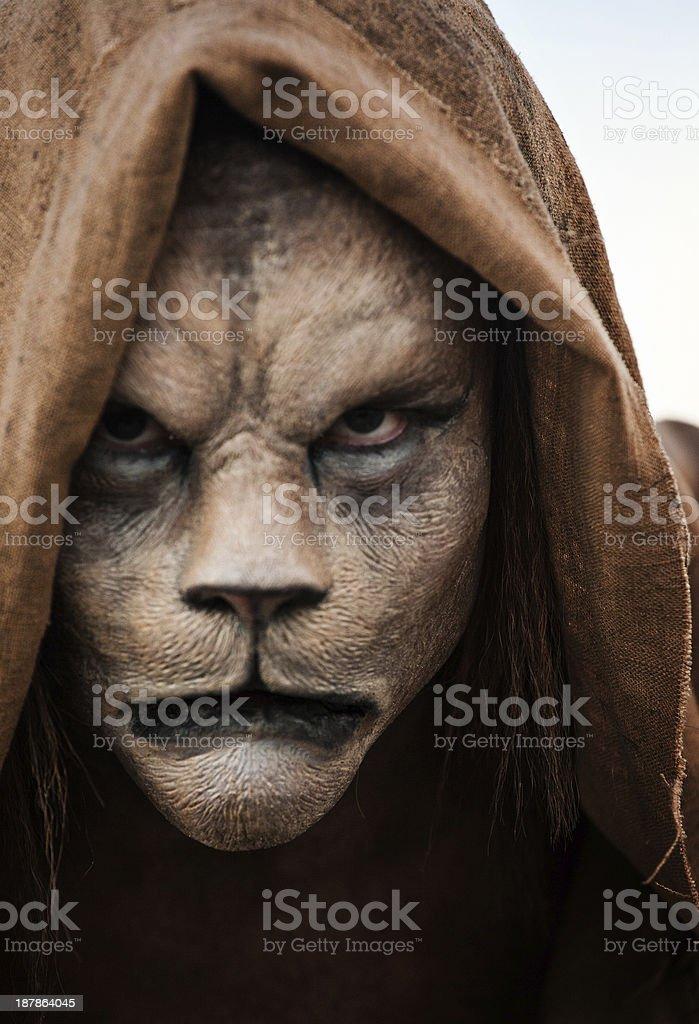 Lion Man royalty-free stock photo