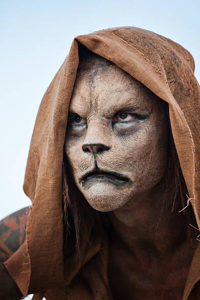 lion mann - affentattoos stock-fotos und bilder