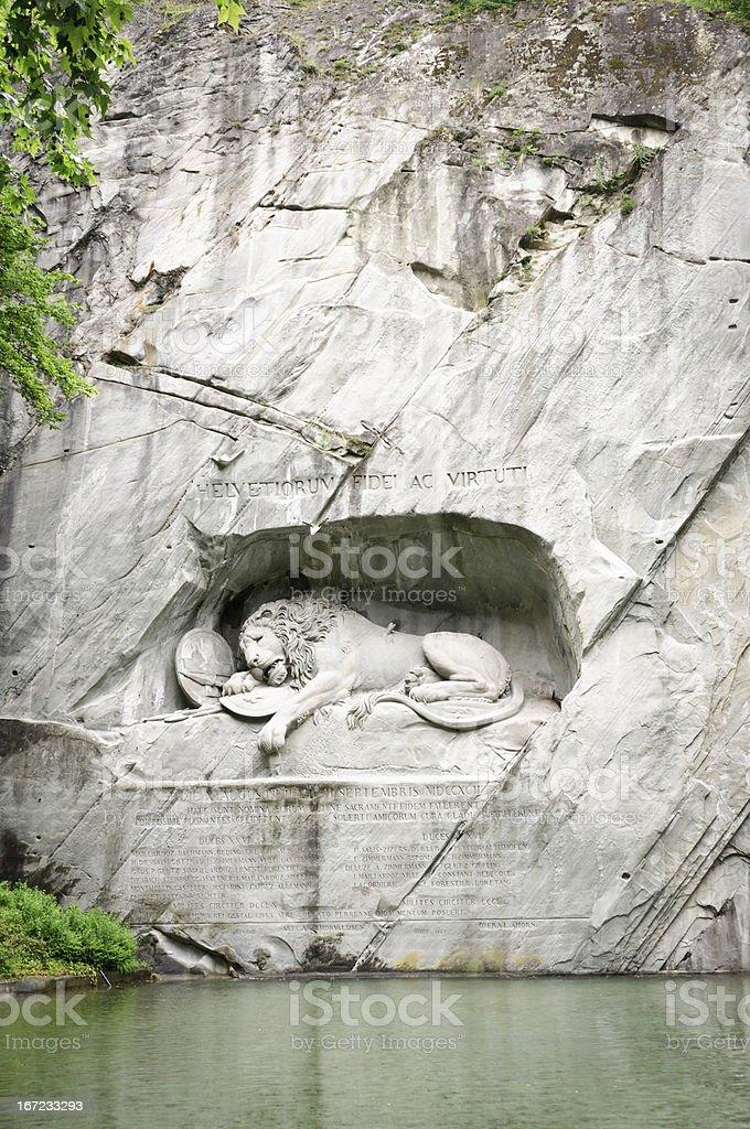 Lion Monument of Lucerne, Switzerland royalty-free stock photo