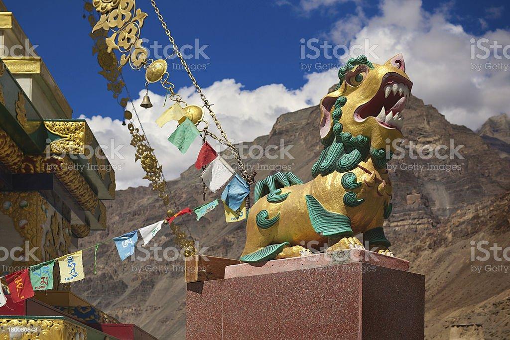 Lion of Buddha royalty-free stock photo