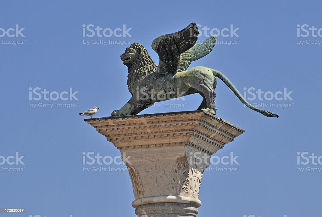 Lion of St Mark stock photo