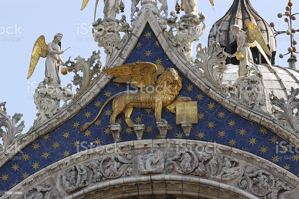 Lion of St Marks royalty-free stock photo