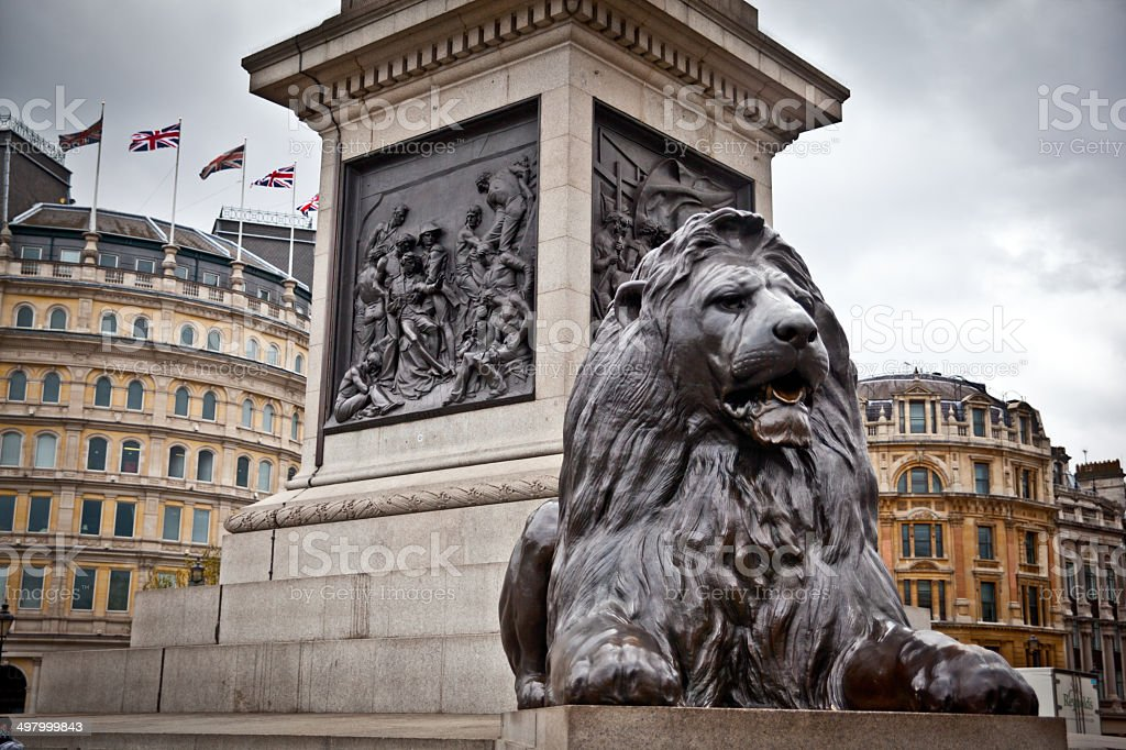 Lion of Trafalger stock photo