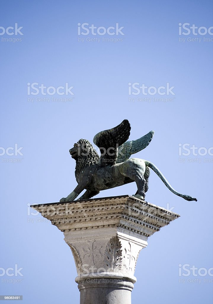 Lion of Venice stock photo