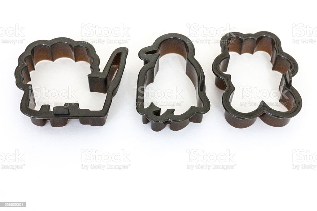Lion, Penguin and Bear Cookie Cutters stock photo