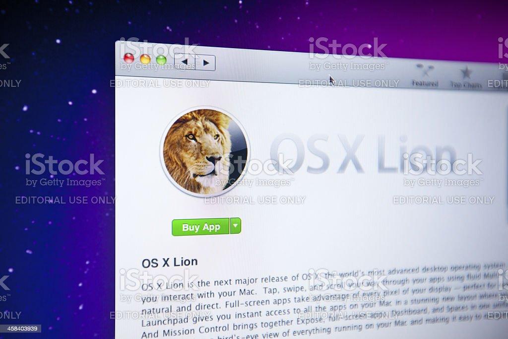 OSX Lion royalty-free stock photo