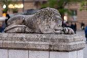 istock Lion Statue in Krakow 1314585833