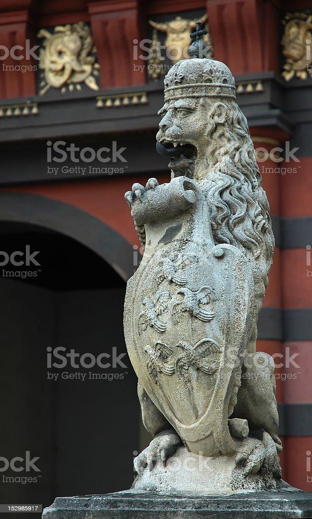 Lion statue in Vienna stock photo