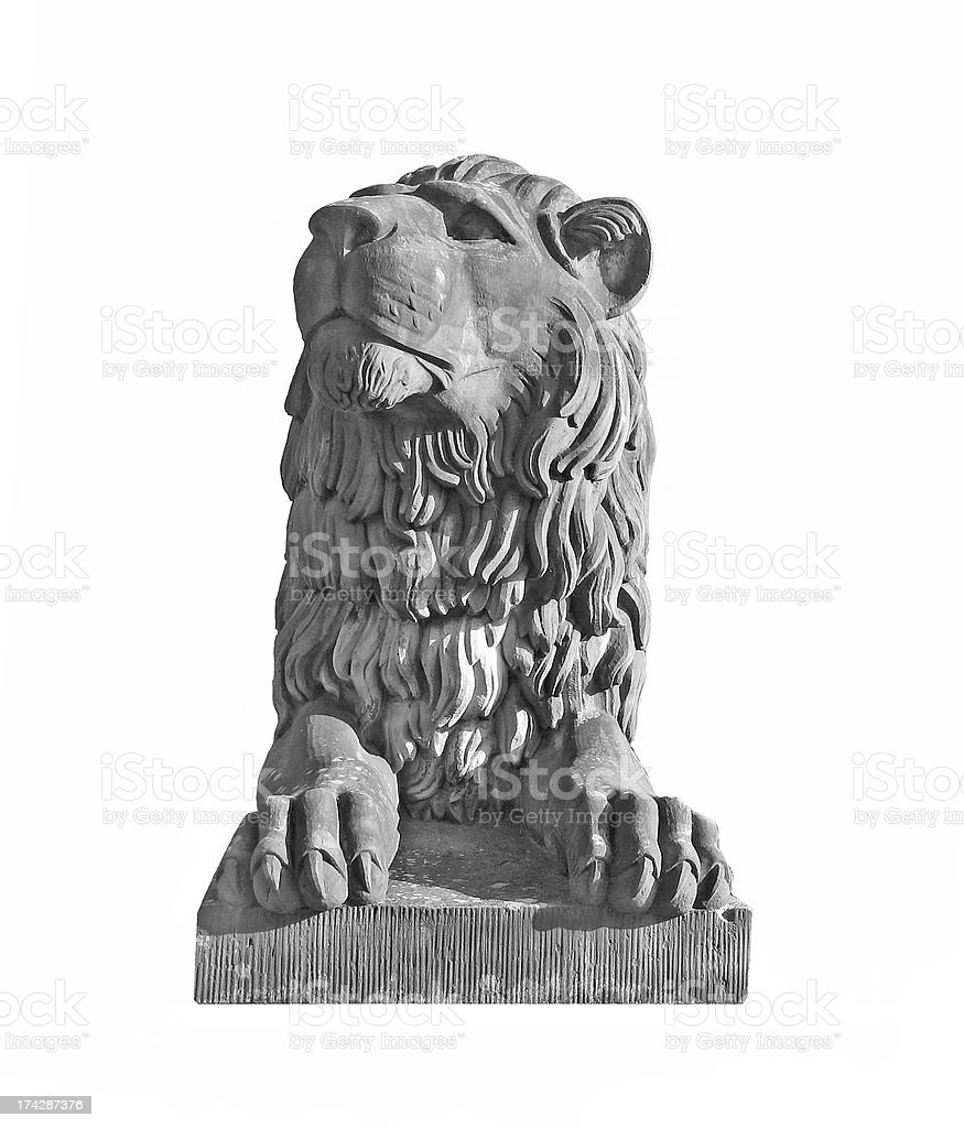 Lion statue isolated royalty-free stock photo
