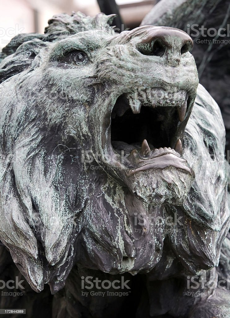 Lion Statue San Marco Area Venice stock photo