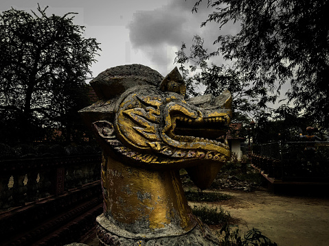 The Singha is mythological creature that protected the temple or pagoda.