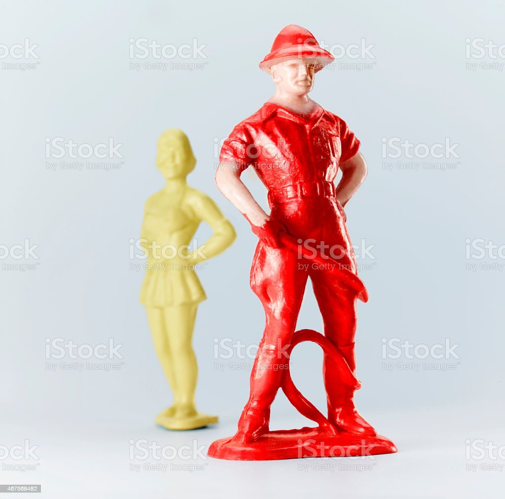 Lion Tamer and Female Acrobat stock photo