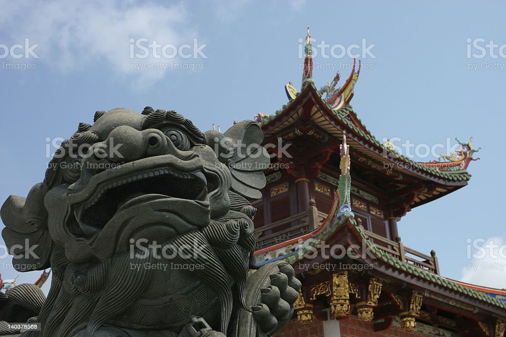 Lion temple royalty-free stock photo