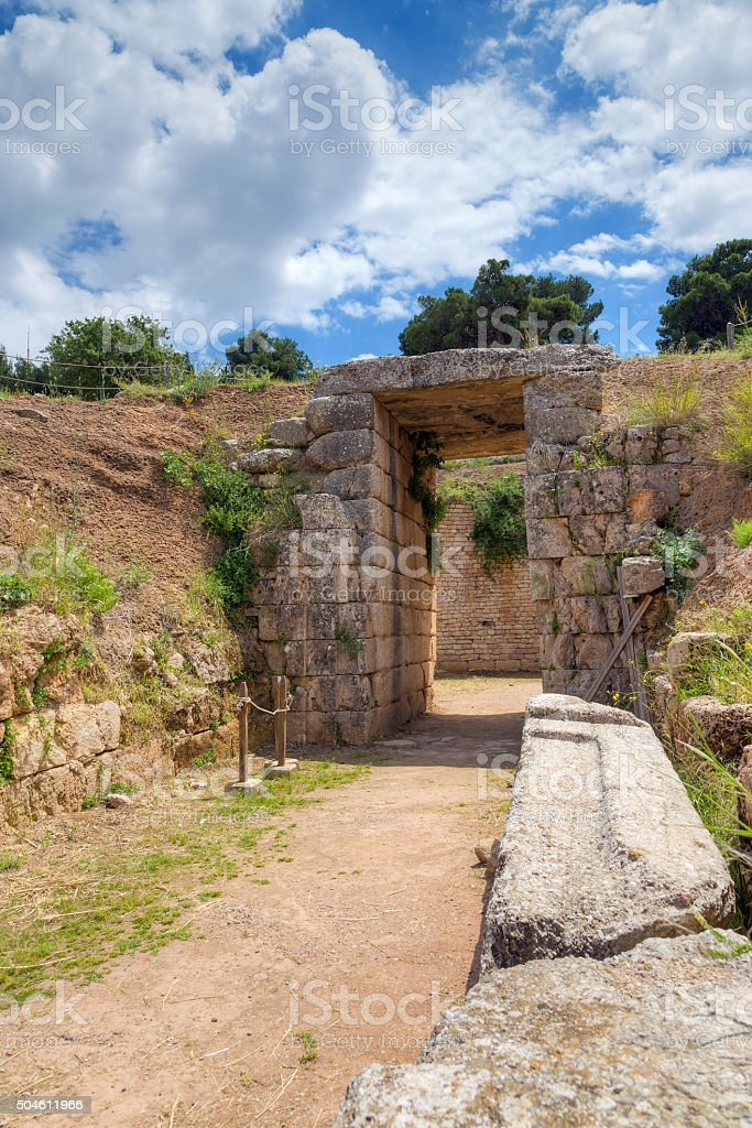Lion Tholos tomb, Mycenae, Greece stock photo