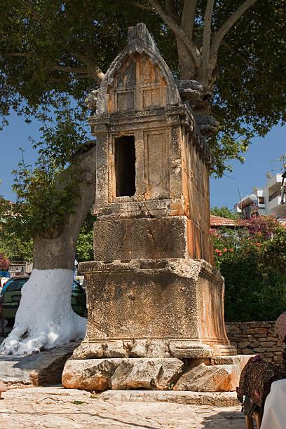 Lion Tomb, Kas, Turkey stock photo