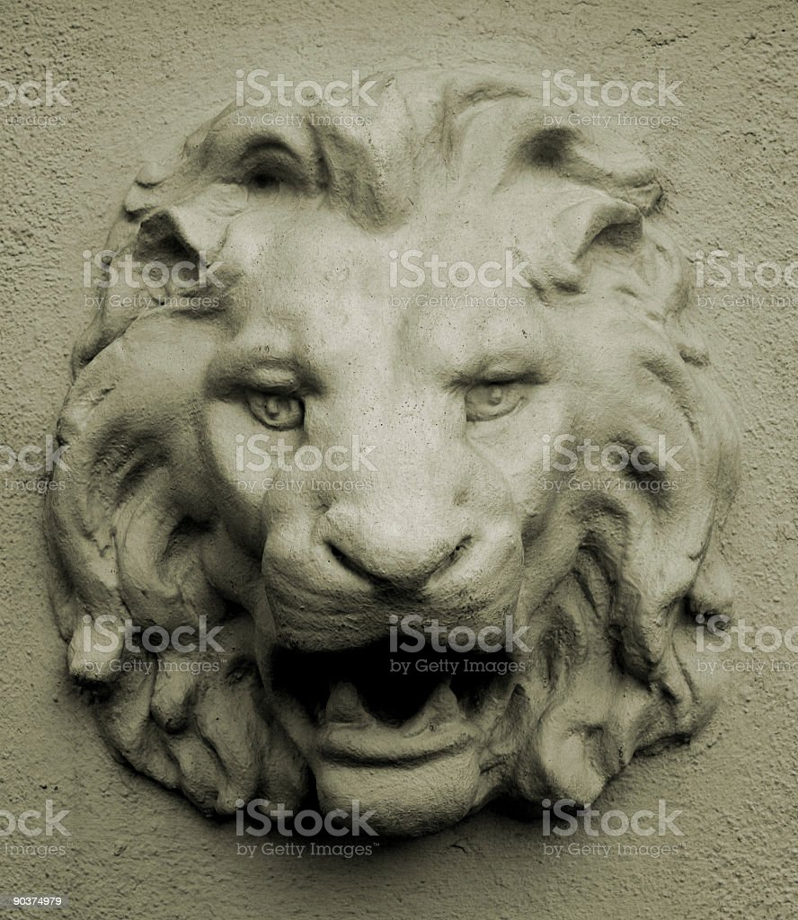 Lion Wall royalty-free stock photo