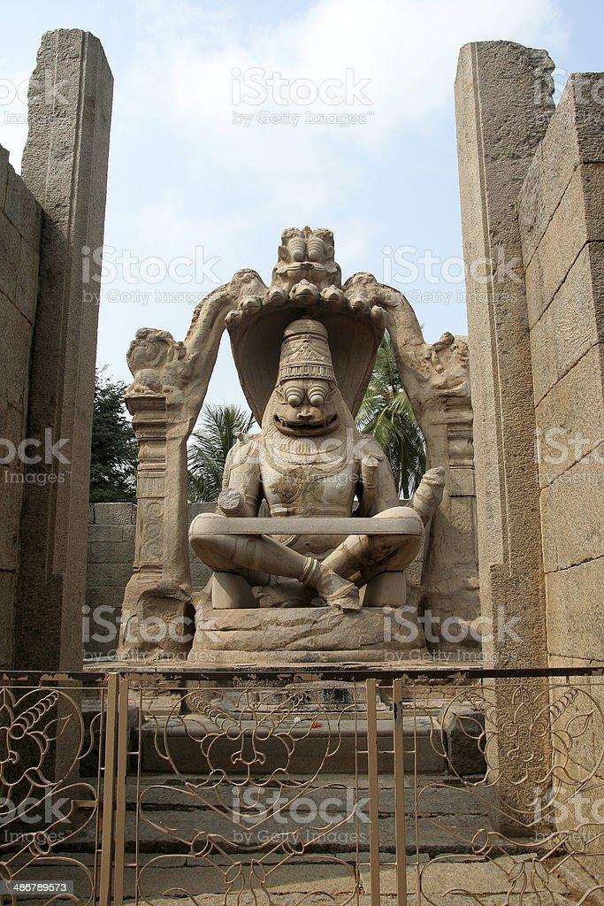 Lion-faced Ugranarasimha royalty-free stock photo