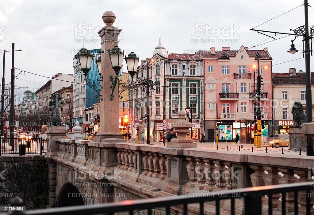 Lions bridge in Sofia, Bulgaria stock photo