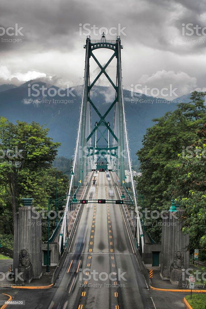 Lions Gate Bridge 5 stock photo