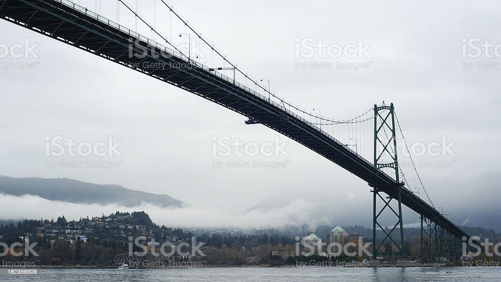 Lions Gate Bridge Of Vancouver stock photo