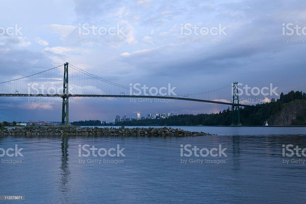 Lions Gate Bridge royalty-free stock photo