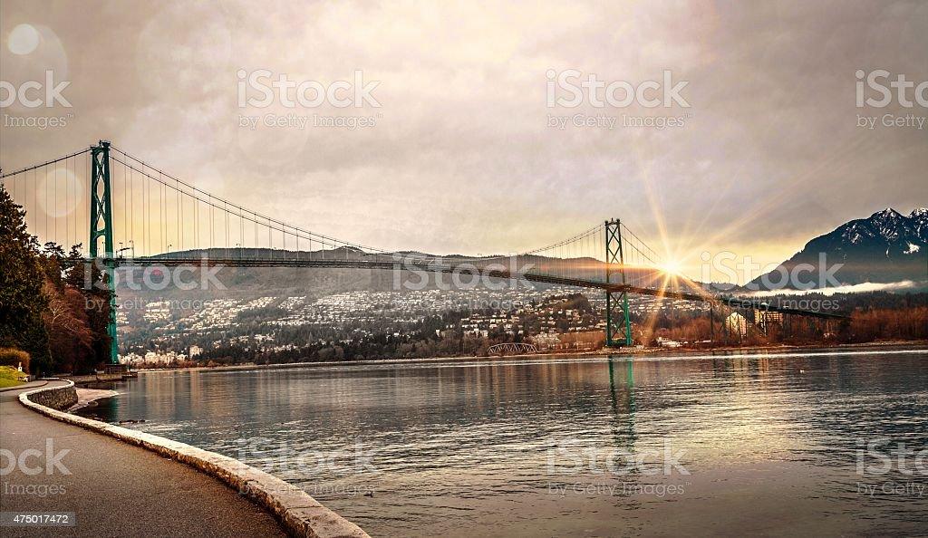Lions Gate Bridge. stock photo