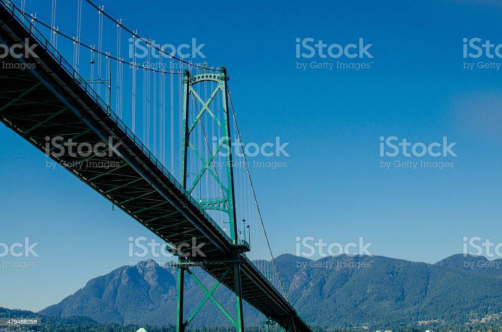Lions Gate Bridge stock photo