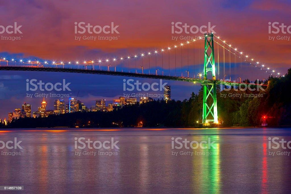 Lions Gate Bridge Vancouver, BC stock photo