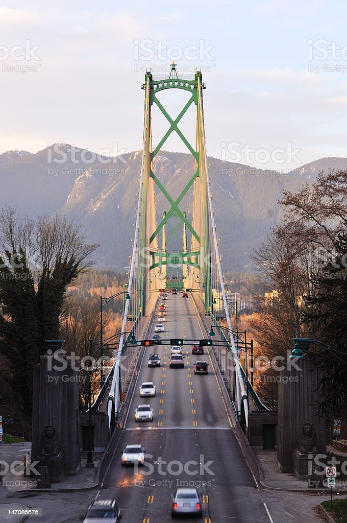 Lions Gate Bridge, Vancouver stock photo