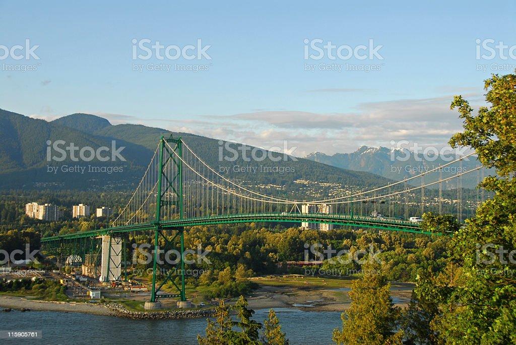 Lion's Gate Bridge,Vancouver stock photo