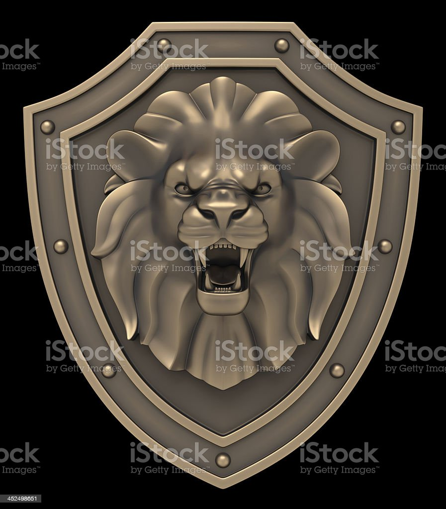 Lion's Head Blazon stock photo