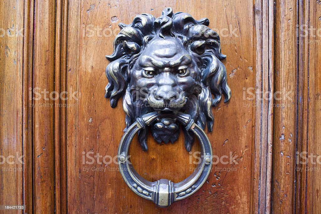 Lion's Head Door Knocker royalty-free stock photo