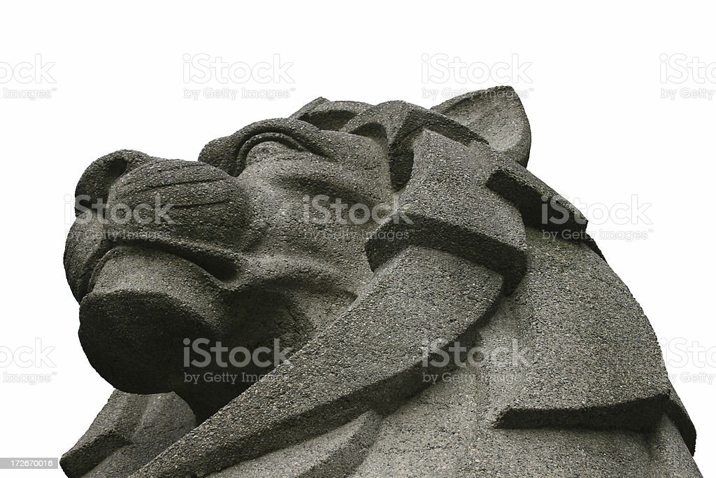Lion's Head Isolated royalty-free stock photo