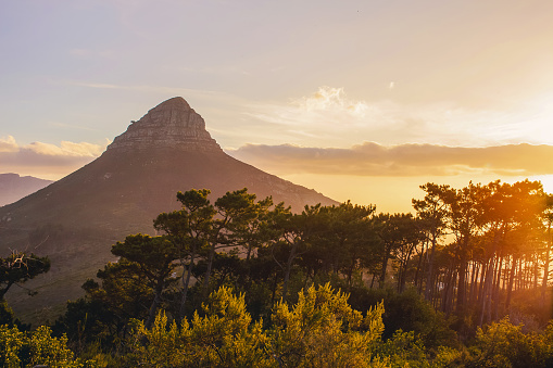 Lions Head Sunset Cape Town Stock Photo - Download Image Now