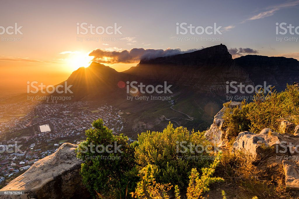 Lions Head viewpoint 8 stock photo