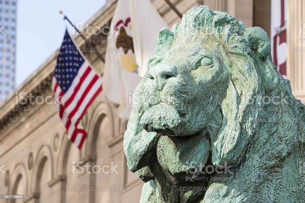 Lions of Chicago stock photo