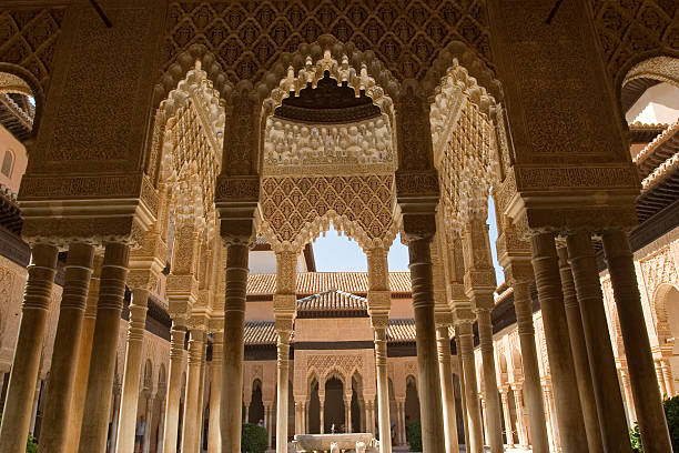 Lions Patio in Alhambra  palacios nazaries stock pictures, royalty-free photos & images