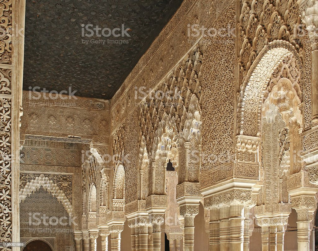 Lions Patio in the Alhambra Palace royalty-free stock photo