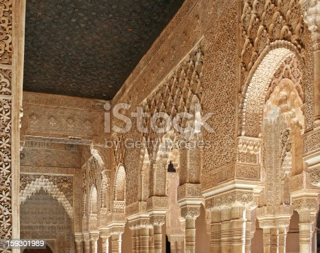 121178604 istock photo Lions Patio in the Alhambra Palace 159301989