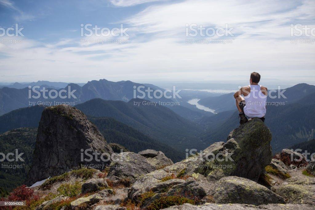 Lions Peak View stock photo