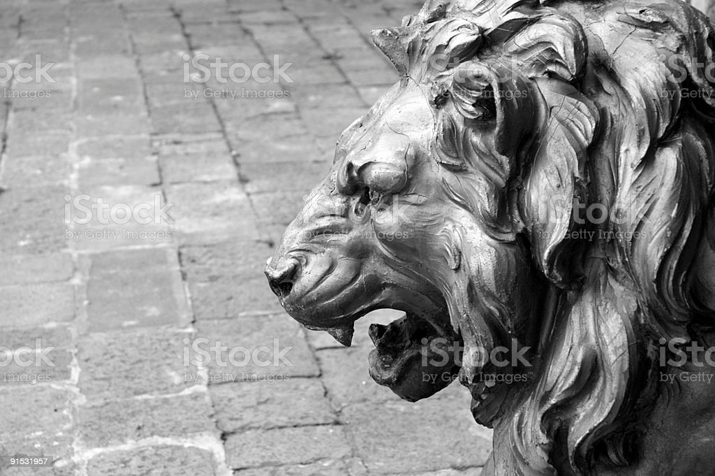 Lion's Roar, Venice, Italy. stock photo