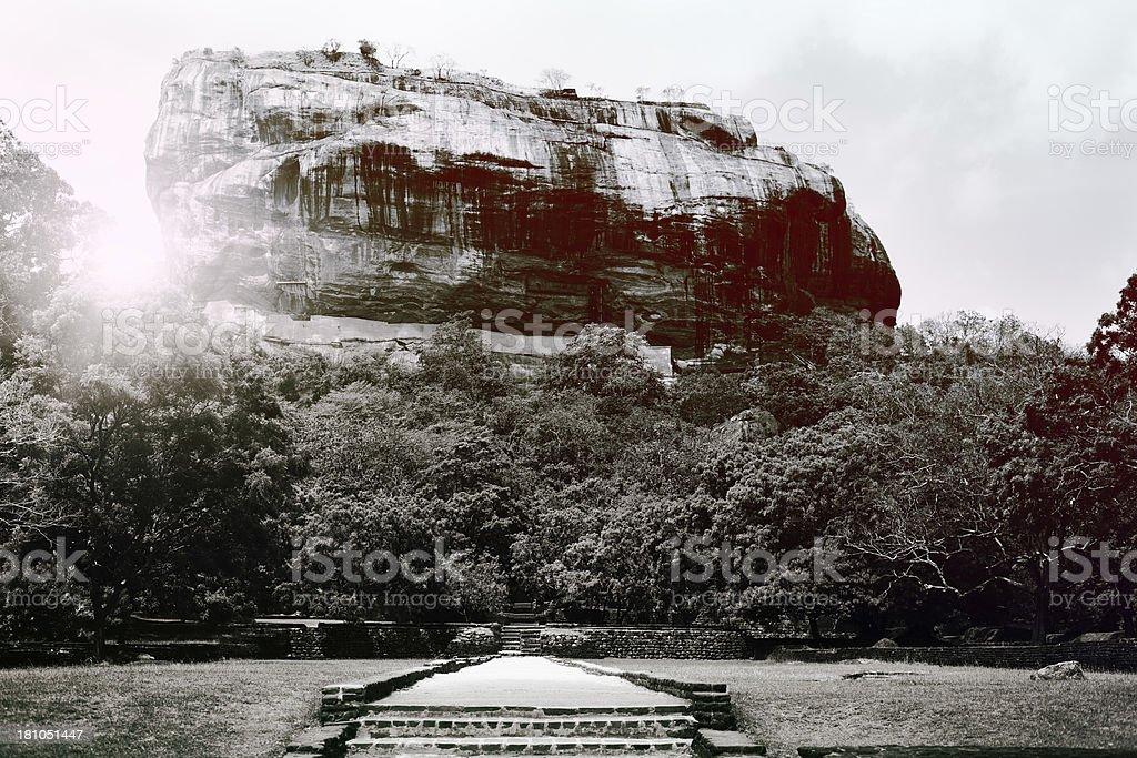 Lion's rock, Sigiriya royalty-free stock photo