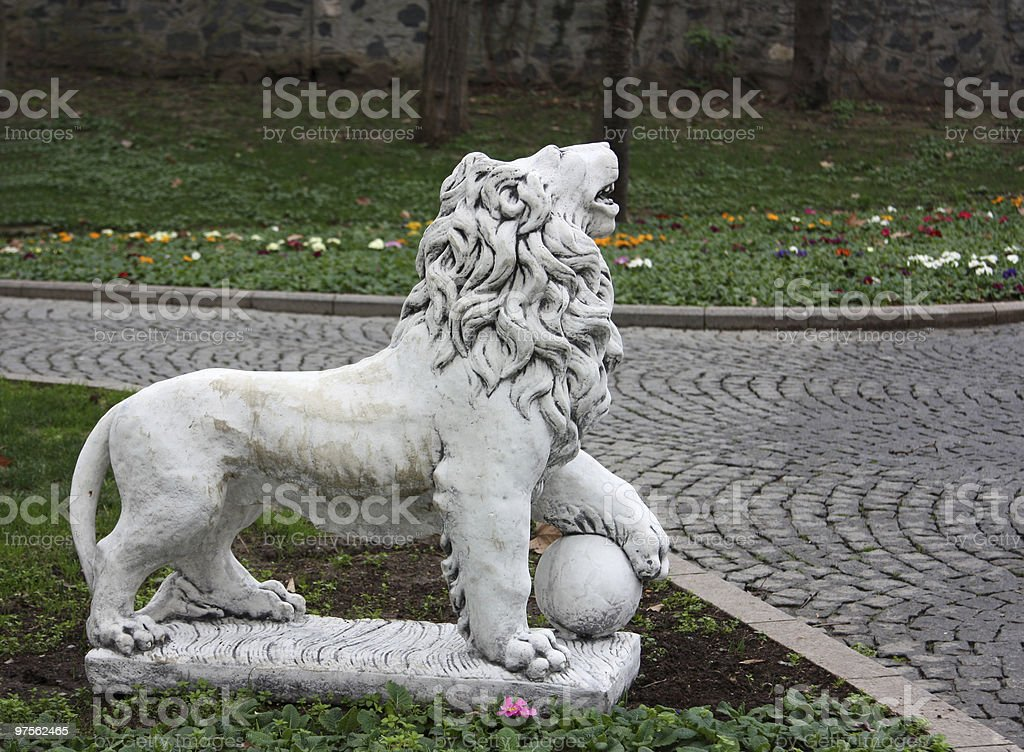 Lion-sculpture royalty-free stock photo