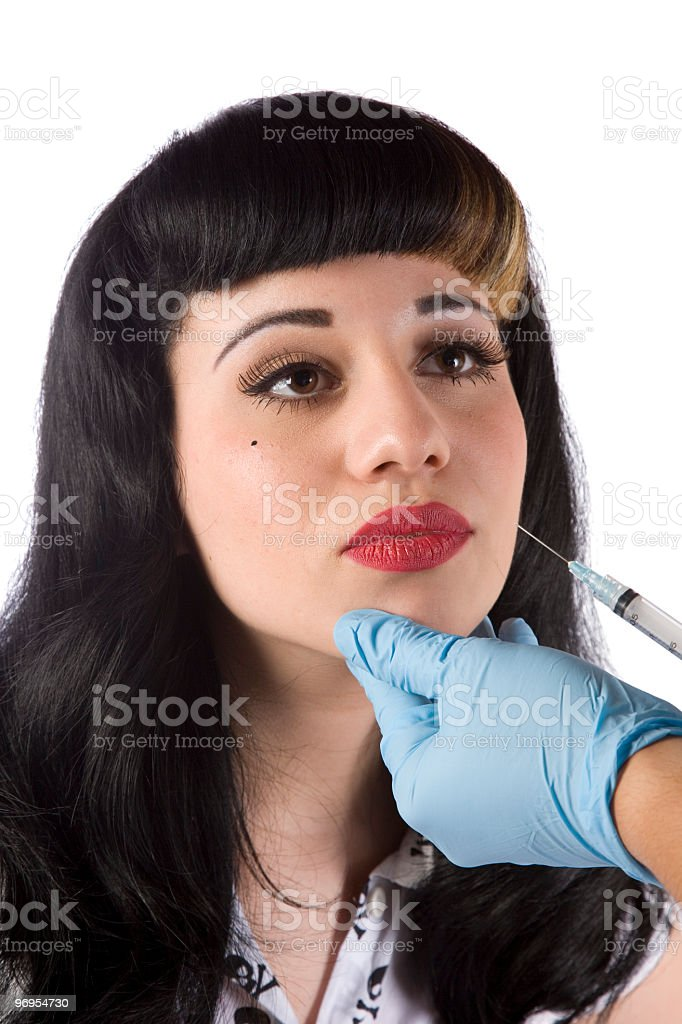 Lip Augmentation royalty-free stock photo