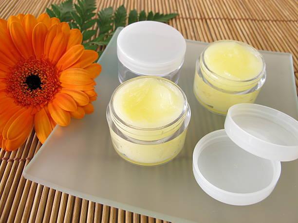Lip balm with honey stock photo