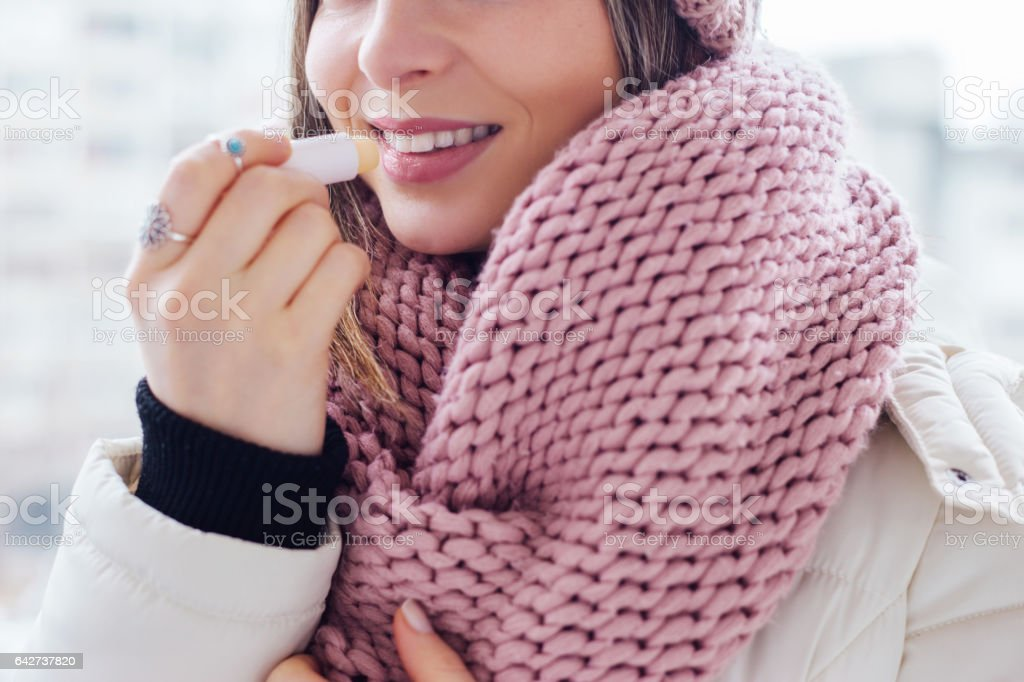 Lip care stock photo
